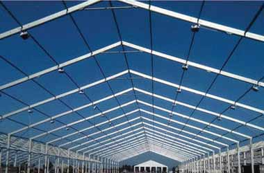 Aluminium German Hanger Tent on Rent Hire Mumbai Tent Supplier for Event & Exhibition