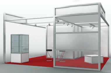 Octanorm Partition System on Rent Hire Mumbai Octanorm Stall Supplier for Event & Exhibition
