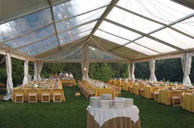 Transparent German Hanger Tent on Rent Hire Mumbai Tent Supplier for Event & Exhibition